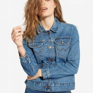 Wrangler Western Cropped Denim Jacket